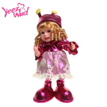 50 см Танцующая гусеница малыш кукла интерактивный электронный робот электронная девочка кукла игрушка запись обучающая игрушка для детей