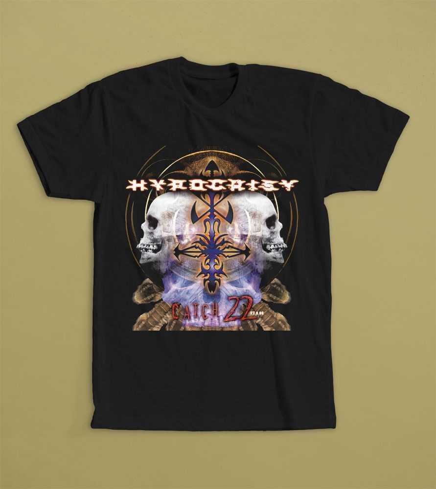 HYPOCRISY CATCH-22 t-셔츠 S-3XL 데스 메탈 밴드 LINDEMANN 불멸의 통증 셔츠 여름 짧은 소매 참신
