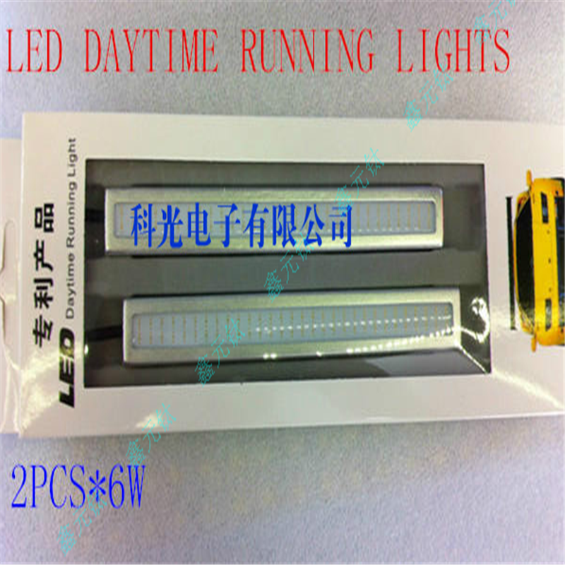 LED Day Light 14cm 12v White Blue Ice Blue 6w Daytime Running Lights Super Bright Car Headlight Decorative Car Lamp 2pcs/lot