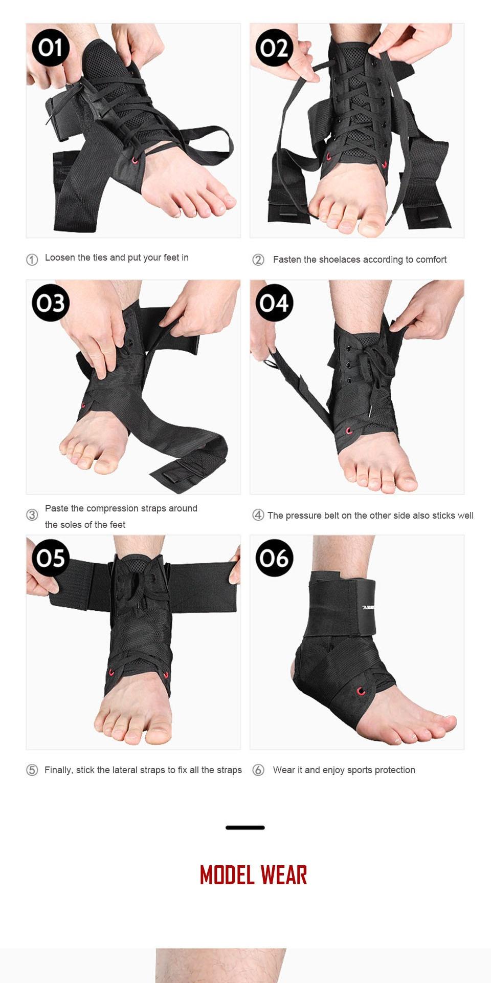 3D Weave Sports Ankle Brace Compressão Strap