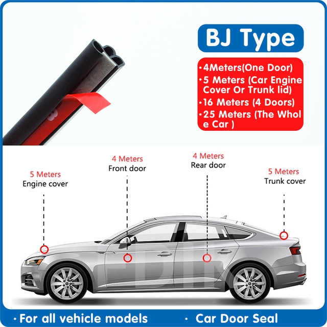 Car sealing strip soundproof door crash proof strip B dust proof and water proof universal hood noise reduction tape Sealing