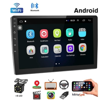 Car Stereo Double Din Android Navigation Stereo 10.1 Inch HD Press Screen in Dash Car Stereo with Bluetooth GPS WiFi FM Radio Su