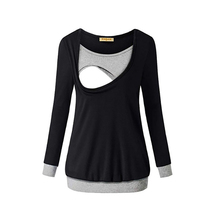 Autumn Long Sleeve Pregnancy Maternity Clothes Breast feeding Tops For Pregnant Women Nursing Top Maternity T-shirt 2017 autumn pregnancy long sweater tops maternity casual oversize cardigans long sleeve knitted outwears for pregnant women