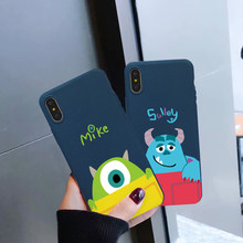 JAMULAR Cartoon Sully Mike Fitted Cases For iPhone 8 XS MAX XR X 7 6 6s Plus Monsters University Soft Silicone Phone Cover Coque(China)