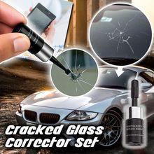 DIY araç ön camı tamir aracı yükseltme otomobil camı Nano tamir sıvısı cam Scratch çatlak geri otomatik pencere tamir # K