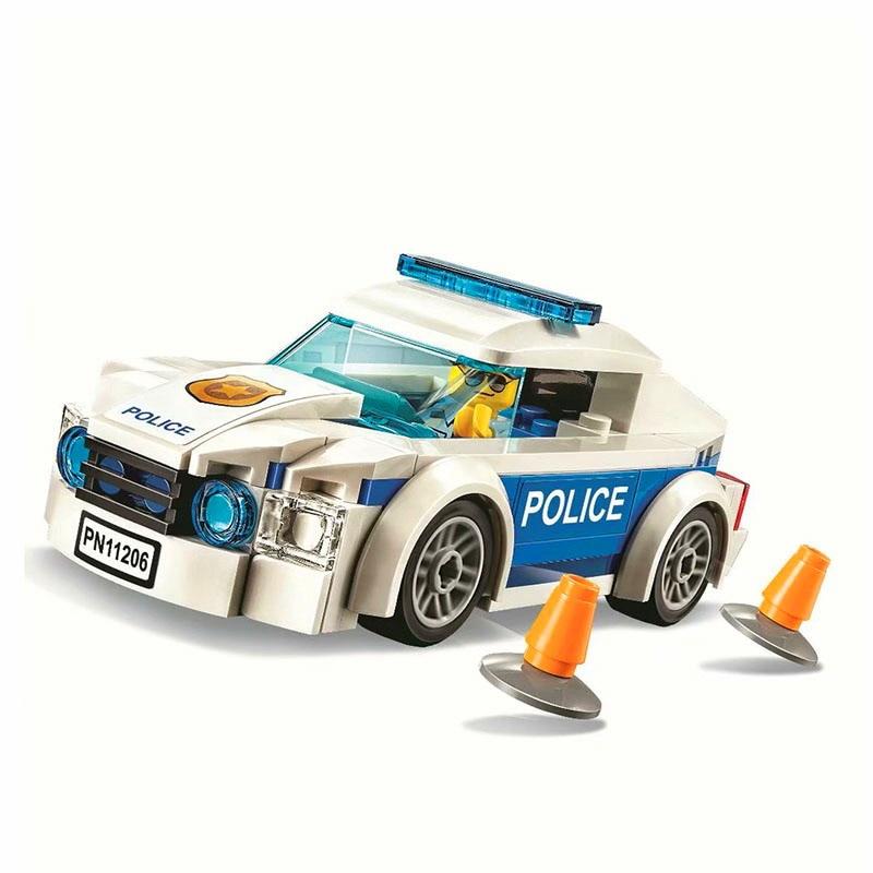 Модель автомобиля «патруль городской полиции» 11206, фигурки, Обучающие строительные блоки, строительные блоки, игрушки для детей, рождествен...