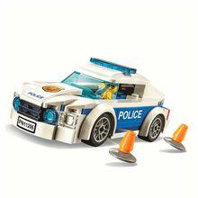 11206 cidade polícia patrulha modelo de carro figura blocos construção educacional tijolos brinquedos para crianças presente natal
