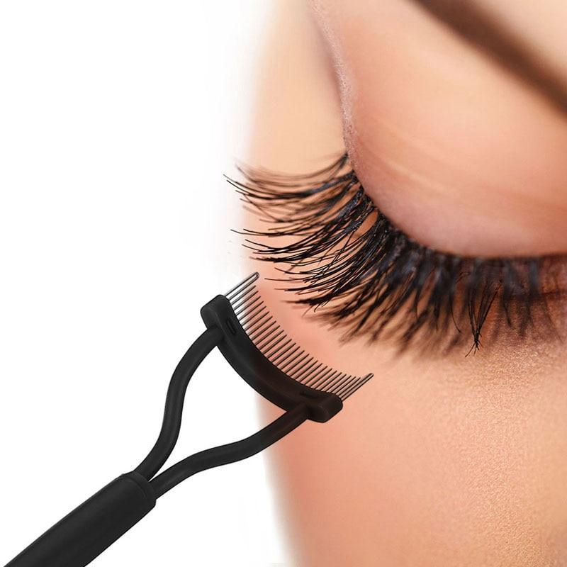 AY 2020 New Eyelash Curler Beauty Makeup Lash Separator Foldable Metal Eyelash Brush Comb Mascara Curl Beauty Makeup Tool
