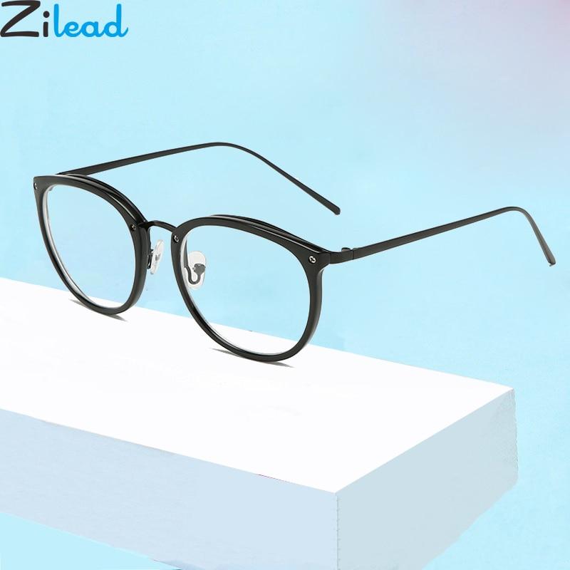 Zilead Round Fnished Myopia Glasses Retro Black Metal Nearsighted Eyeglasses For Women&Men Short-sight Eyewear 0 -1.0to-5.0