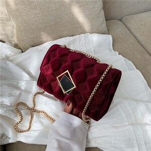 Image 1 - Женская клетчатая сумка через плечо, большая сумка мессенджер известного бренда, Классическая модная женская сумка через плечо, зима 2019
