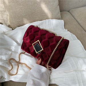 Image 1 - 2019 Winter Women Plaid Shoulder Bag Chain Messenger Bag Big Famous Brand Designer Classic Fashion Female Handbag Cross Body Bag