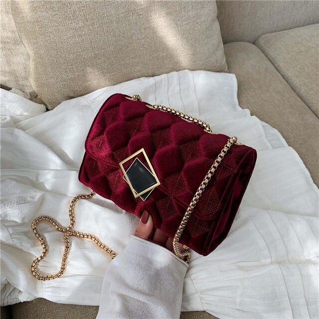 2019 Winter Women Plaid Shoulder Bag Chain Messenger Bag Big Famous Brand Designer Classic Fashion Female Handbag Cross Body Bag
