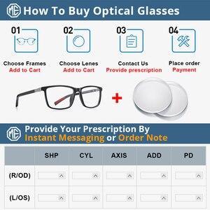 Image 5 - MERRYS DESIGN Männer Luxus Acetat Gläser Rahmen Myopie Brillen Frühling Scharnier Silikon Tempel Spitze S2518