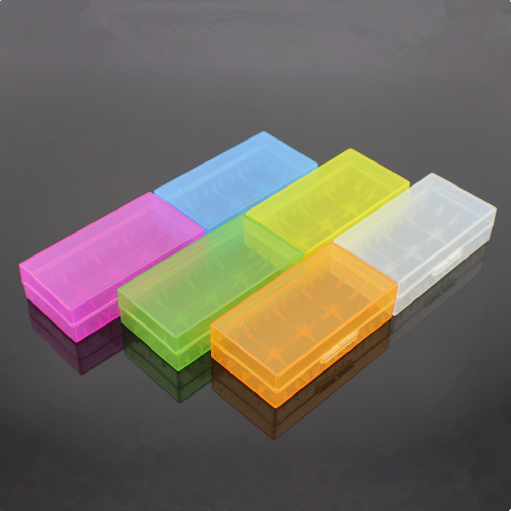 50pcs/lot Useful <font><b>Battery</b></font> Storage <font><b>Case</b></font> Box Holder For 2Pcs 18650 4pcs CR123A Randomly for 18350 <font><b>18500</b></font> 17670 <font><b>battery</b></font> box image
