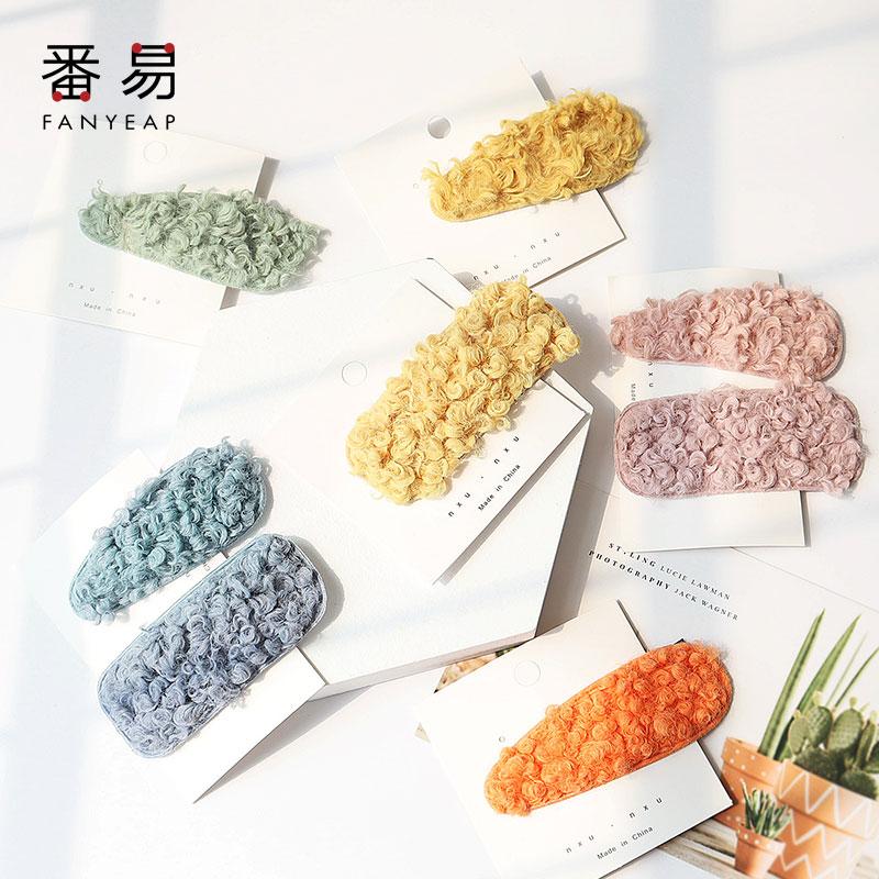 Новые заколки для волос ярких цветов BB, шпильки для волос в Корейском стиле для осени и зимы, милые заколки для волос, заколки, аксессуары для...