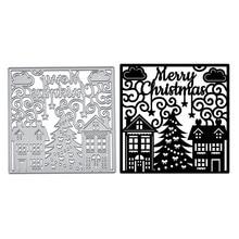 YaMinSanNiO Merry Christmas Dies Metal Cutting Dies for Card Making Scrapbooking Embossing Cuts Stencil Craft Dies New 2019 Die цена