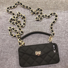 Droshipping VIP Shoulder Bag Purse Wallet Soft Silicone Phone Case For iPhone 12 Mini 11 Pro Max 6 6s 7 8 Plus XS Max XR X 10