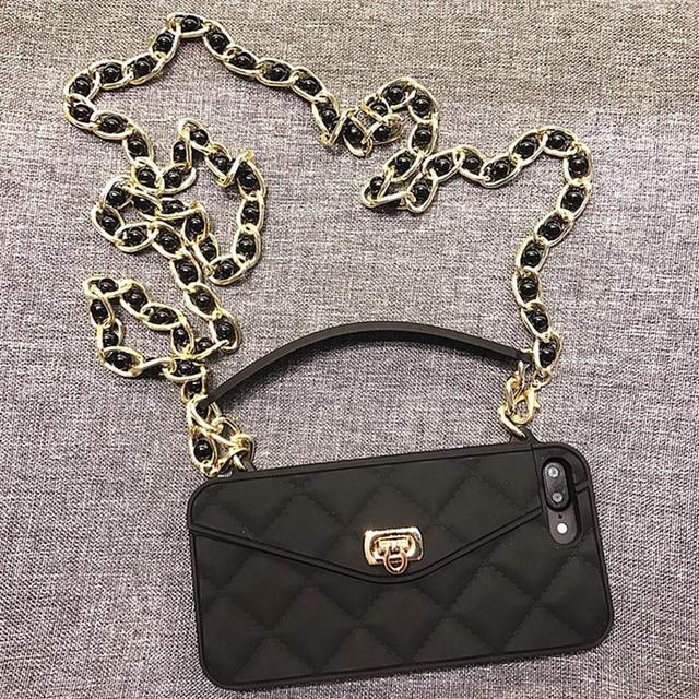 Droshipping vip bolsa de ombro bolsa carteira silicone macio caso do telefone para o iphone 12 mini 11 pro max 6s 7 8 plus xs max xr x 10