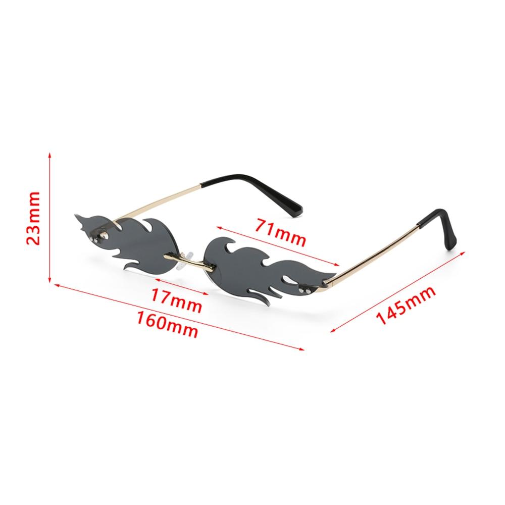 2020 nouvelles lunettes de soleil femmes femmes hommes sans monture feu lunettes de soleil flamme lunettes de soleil lunettes de luxe lunettes de soleil Streetwear