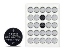 Button battery 25pcs  New CR2025 CR 2025 3V 220mAh Li-ion Button Cell Battery For Panasonic batteriesFree Shipping стоимость