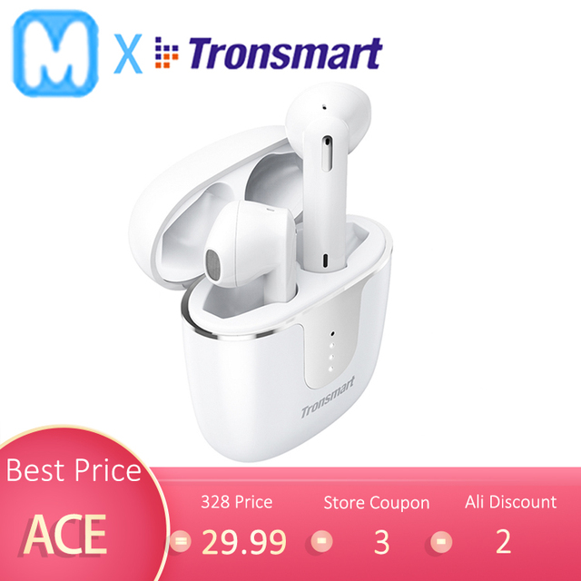 $ US $34.79 Original Tronsmart Onyx Ace TWS Bluetooth 5.0 Earphones with Qualcomm aptX WirelessEarbuds Noise Cancellation 4 Mic,24H Playtime