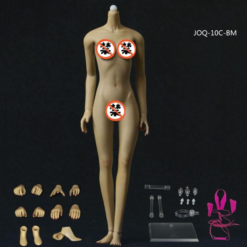 JOQ-10D 1/6 Asia Shape Female Seamless Body Scale Flexible (Big bust) Skeleton Stainless Steel Ball Detachable Foot Model