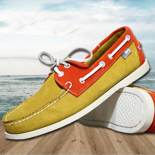 New Genuine Leather Loafers Men Moccasin Sneakers High Quality Causal Men Shoes women Footwear Docksides Classic Boat Shoes 46
