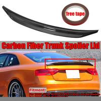 New Real Carbon Fiber Car Trunk Spoiler Wing Lid For AUDI S5 RS5 2Dr Coupe A5 2009 2016 Sedan CAT Style Racing Spoiler Wing