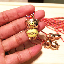 New colorful line hanging neck gold pig small pendant gift toy DIY small jewelry