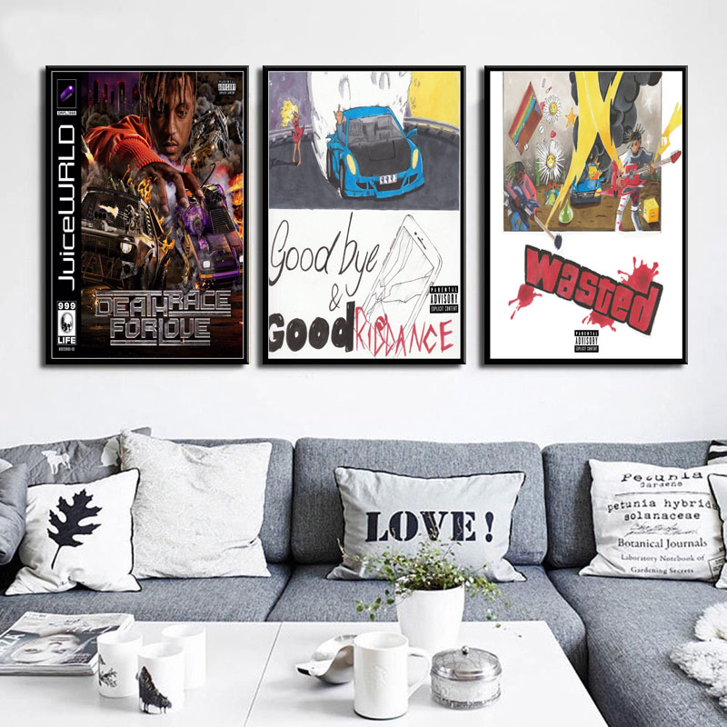 Juice Wrld Death Race for Love Hot Album Rap Hip Hop Music Star Art Canvas Painting Poster Wall Home Decor quadro cuadros image