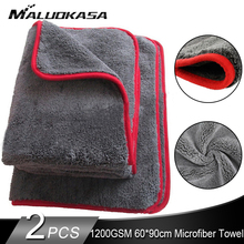 60*90 1200GSM車ディテールマイクロファイバータオルカークリーニング乾燥布厚い洗車ぼろ車のためのキッチンカーケア布