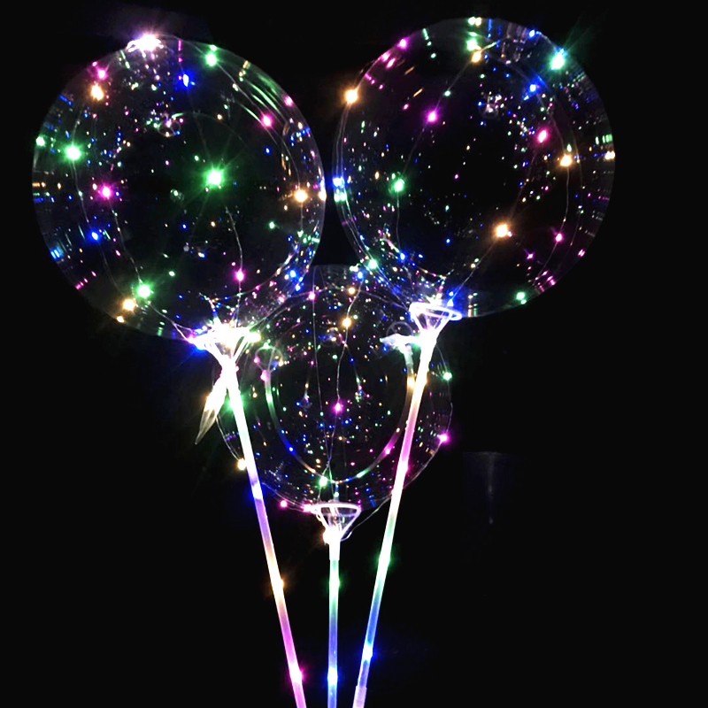 Toprex Transparent Bubble Balloons LED String Light Clear Bobo Light Globos Birthday Wedding Party Decor Gifts
