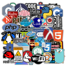 Car-Stickers Laptop for Geek-Programmer Cloud-C Internet Docker Html Php 50pcs