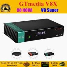 GTmedia-rezeptor de TV satelital V8X, GTmedia V8 Nova, Freesat V9 Super actualizado con Europa, españa, Polonia, Alemania, recep