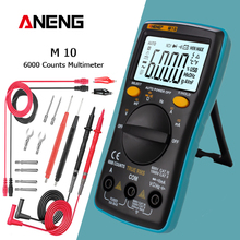 ANENG M10 Digital Multimeter Transistor Tester Analog 6000 zählt Multimetro Profesional Kondensator Induktivität Meter rm101/zt102