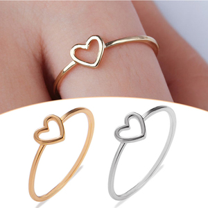 New 1PC Couple Heart Rings Alloy Hollow Out Bride Party Wedding Ring for Women Ring Size 6 7 8 9 10 Valentines Gift Accessories