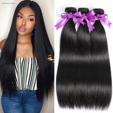 O cabelo reto empacota o cabelo humano do osso empacota 30 polegada pacotes do cabelo do virgin brasileiro tecer extensões do cabelo humano de remy
