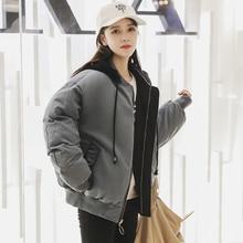 2019 Baseball uniform styled hooded parkas Winter women parkas coat jackets female winter thicken warm sintepon outwear jackets