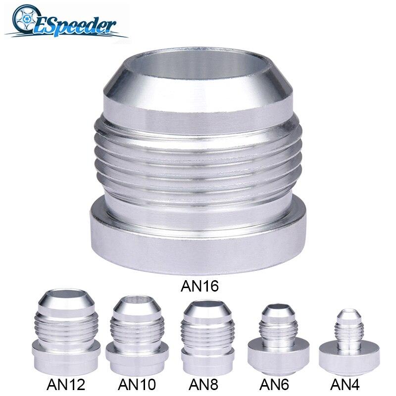 ESPEEDER AN10 AN 10 Male Aluminum Weld On Fitting Round Base