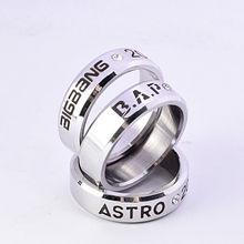 цена на KPOP Wanna One Ring BAP SHINee Block.b Vixx Astro Straykids Finger Rings Bigbang