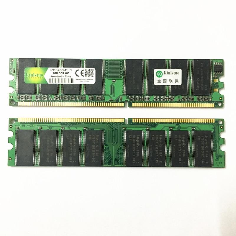 Kinlstuo New 1GB DDR PC 2700 3200 DDR 1 333MHZ 400MHZ 333 400 MHZ Desktop PC Memory Memoria Module Computer Desktop DDR1 RAM