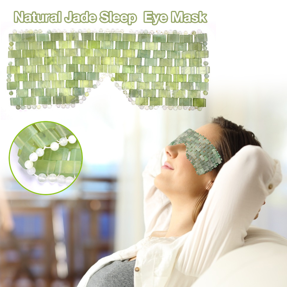 Eye Massager Natural Jade Eye Mask Stone Face Massager Sleep Mask Jade Eye Mask For Eye Relax Eye Care Beauty Tool
