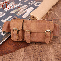 Korean style Casual Men Chest Pack Multi functional Genuine Leather Outdoor Wallet Nubuck Leather Retro Crossbody/shoulder Bag M