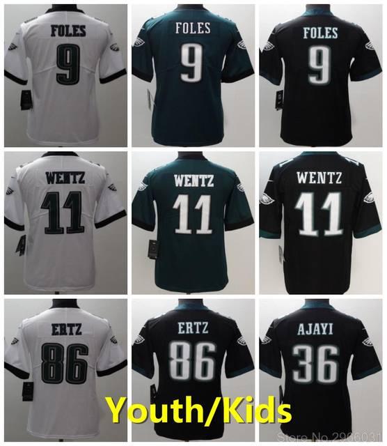 outlet store f11a6 ae262 Philadelphia quality Kids youth 36 Jay Ajayi 17 Alshon Jeffery 20 Brian  Dawkins 27 Malcolm Jenkins 56 Chris Long jersey