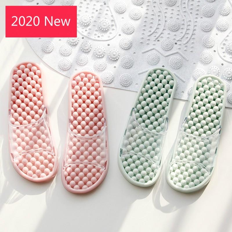 Women Massage Slippers Summer Fashion Leakage Design Non Slip Indoor Outdoor Woman House Shoes Beach Bathroom Slipper Men Slide