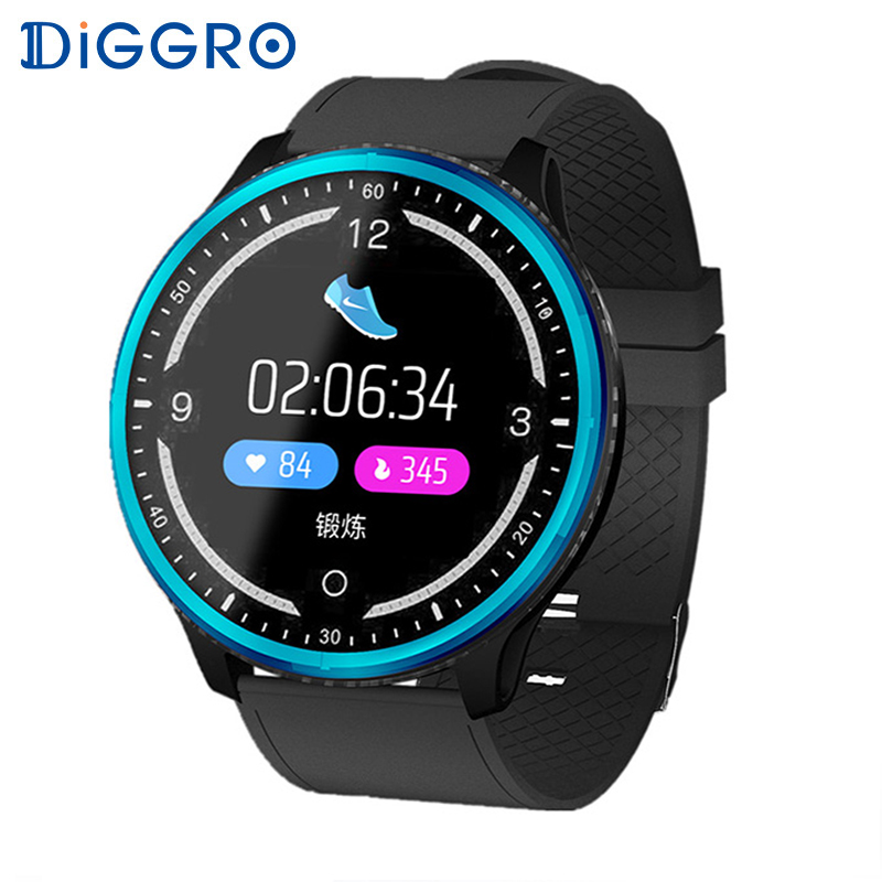 Diggro P69 Sports Smart Watch Waterproof Heart Rate Blood Pressure Oxygen Calorie Sleep Monitoring Reminder Push Dial Wristband