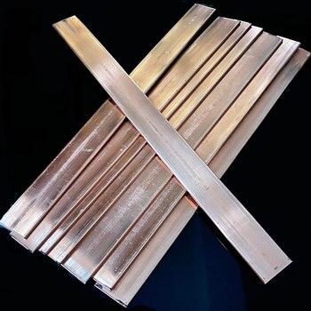 Tira de barra de cobre T2, barra de conexión a tierra, barras conductoras de cobre de 3x20x500mm