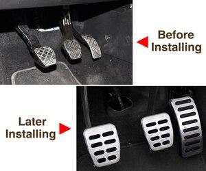 Image 3 - Edelstahl Auto pedal Abdeckung Für Volkswagen VW Ibiza 6K 6L 6J Skoda Fabia Polo 9N 6R Bora Golf MK4 IV Kupplung Gas bremspedale Pads