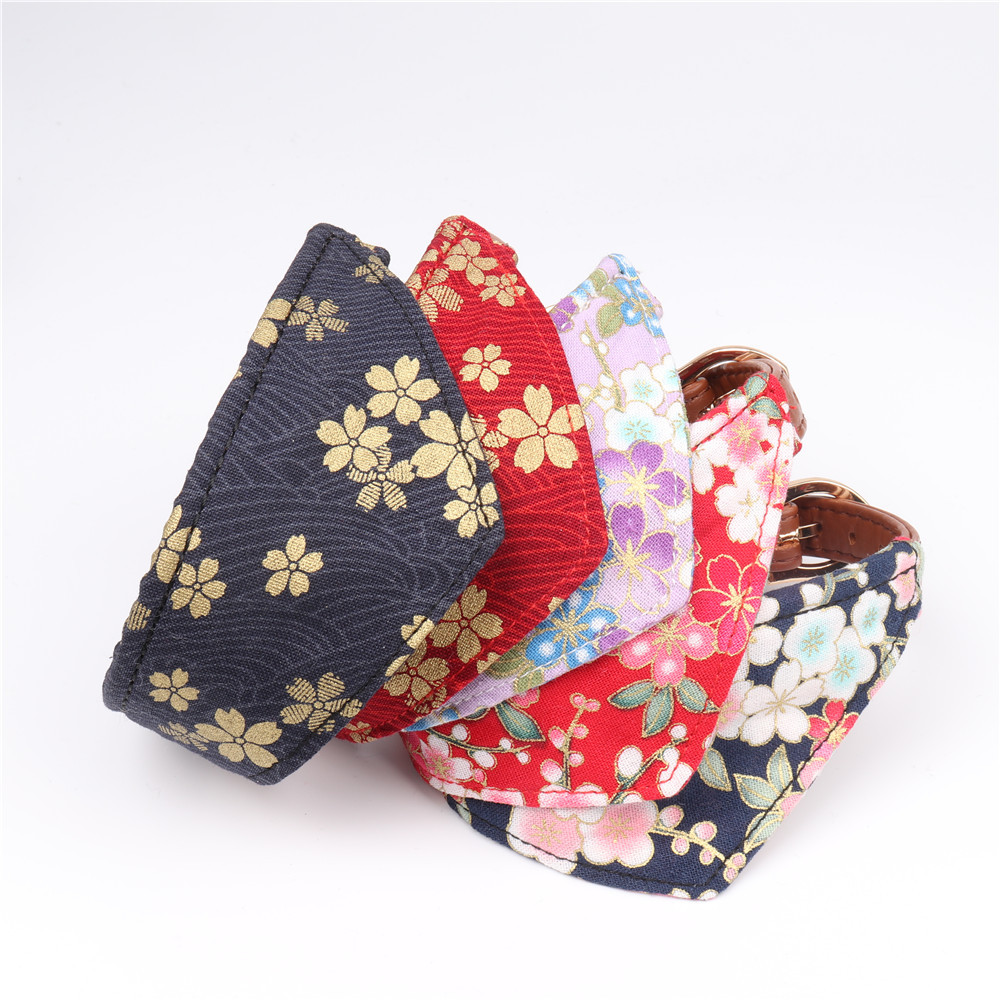 Amin Lattice New Style Cross Border For And Wind Triangular Binder Pet Collar Dog Bibs Manufacturers Direct Selling