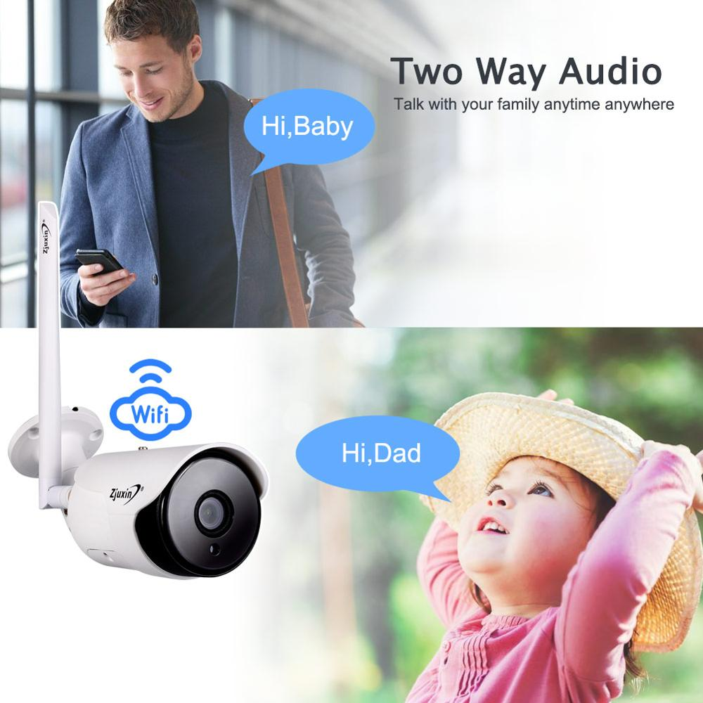 Image 4 - Zjuxin 1080P IP AI Camera HD Cloud Wireless Wifi Outdoor Weatherproof Infrared Night Vision Security Camera With TF SlotSurveillance Cameras   -